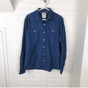 {Men's} Levi's Classic Blue Button Down Shirt